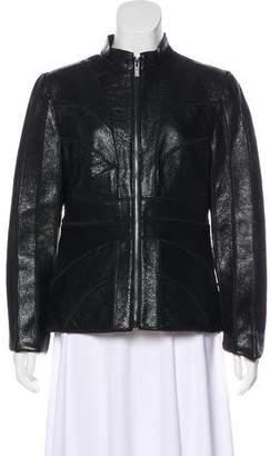 Zac Posen Paneled Leather Jacket