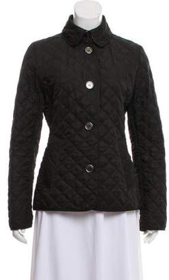 Burberry Quilted Nova Check-Lined Jacket Black Quilted Nova Check-Lined Jacket