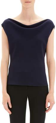 Theory Draped Boat Neck Top