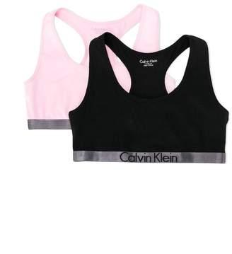 Calvin Klein Kids Teen pack of two logo trim bralettes