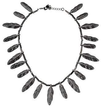 House Of Harlow Pleated Leaf Collar Necklace