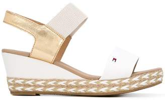 Tommy Hilfiger braided sole wedge sandals