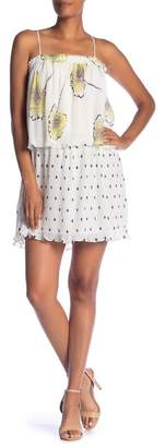1 STATE 1.State Mixed Print Pleated Shift Dress