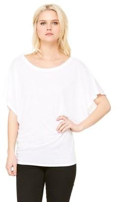 Clementine Apparel Women's Clementine Flowy Draped Sleeve Dolman T-Shirt