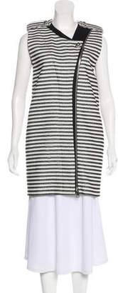 Bouchra Jarrar Striped Sleeveless Coat