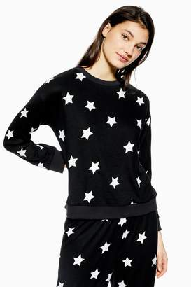 Topshop Brushed Star Print Sweatshirt