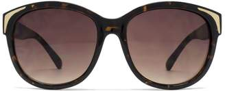 e55e4d7d5f61 French Connection Ladies Sunglass Metal Inlay Detail Plastic Dark Demi  26French ConnectionU635