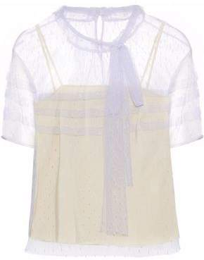 RED Valentino Pussy-Bow Point D'esprit Blouse