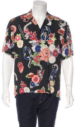 Saint Laurent 2017 Floral & Animal Print Shirt