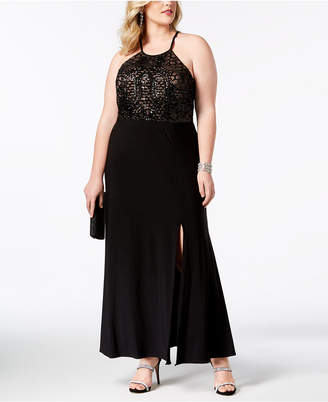 Morgan & Company Trendy Plus Size Embellished-Bodice Gown