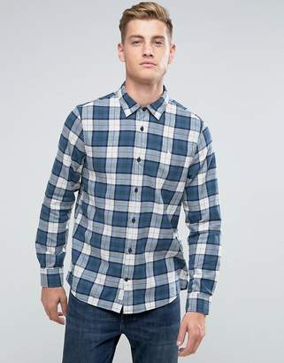 Jack Wills Salcombe Regulat Fit Flannel Check Shirt In Blue