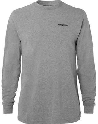 Patagonia P-6 Responsibili-tee Logo-print Cotton-blend Jersey T-shirt