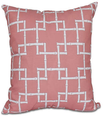 E By Design Bamboo 1 16 Inch Coral Decorative Abstract Throw Pillow