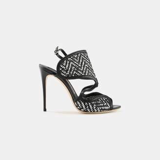 Salvatore Ferragamo Elisea Twist Woven Leather Slingback Sandal