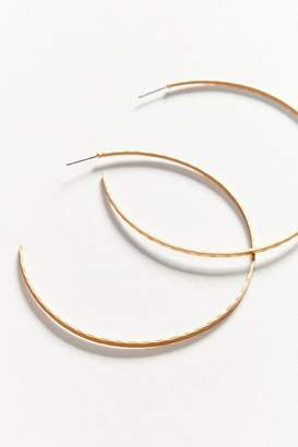 Urban Outfitters Delicate Hammered Hoop Earring