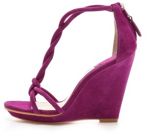 Brian Atwood Priscilla Twist Strap Wedge Sandals