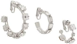 Ca&Lou crystal hoop earrings