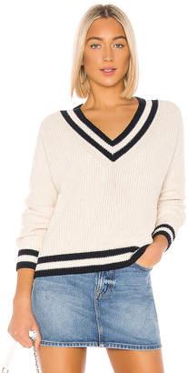 525 America Varsity V-Neck Cropped Sweater