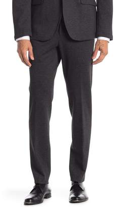 """14th & Union Black Textured Knit Extra Trim Fit Suit Separates Trousers - 30-34\"""" Inseam"""