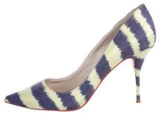 Sophia Webster Striped Pointed-Toe Pumps
