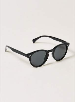 Topman Mens Black Round Sunglasses