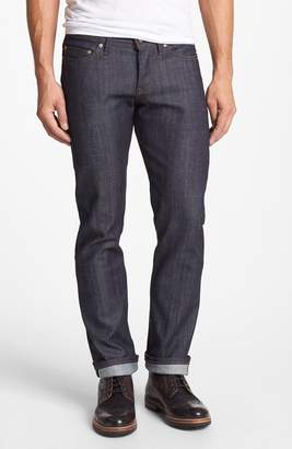 Naked & Famous Denim Weird Guy Slim Fit Raw Jeans