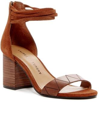Chinese Laundry Rylan Block Heel Suede & Leather Sandal