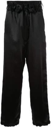 SASQUATCHfabrix. elastic waist satin trousers
