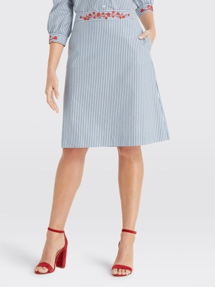 Draper James Embroidered Skirt