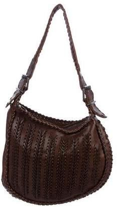Fendi Whipstitch Oyster Bag