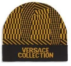 Versace Intarsia Beanie
