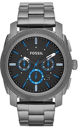 Fossil Machine Chronograph Stainless Steel Watch Smoke