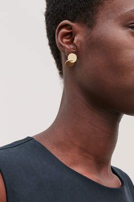 Cos OVERLAPPING DISC STUD EARRINGS