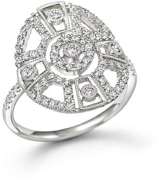Meira T 14K White Gold Antique Inspired Diamond Ring