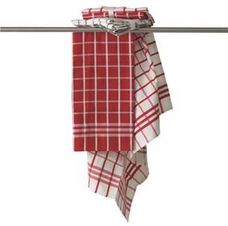 House Macy Tea Towel Set of 2 Red