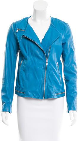 Rebecca TaylorRebecca Taylor Leather Long Sleeve Jacket