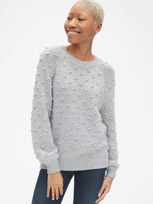 Gap Bobble Stitch Blouson Sleeve Pullover Sweater