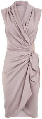 AllSaints Cancity Wrap Dress