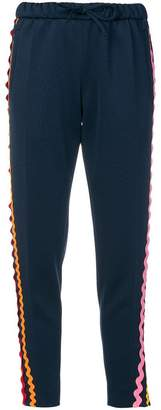 Mira Mikati wave ribbon track pants