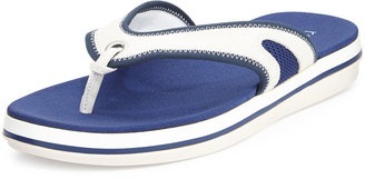 Tommy Bahama Jaxsen Suede Thong Sandal, White/Navy $71.10 thestylecure.com