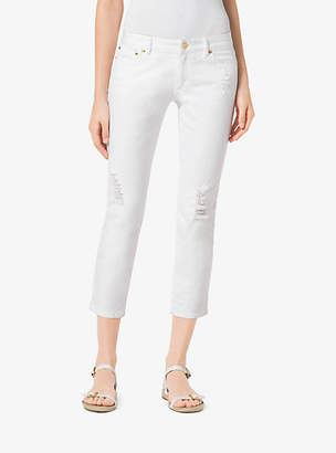 Michael Kors Distressed Cropped Jeans