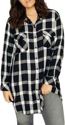 Sanctuary Main Street Plaid Boyfriend Tunic Shirt