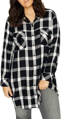 Sanctuary Main Street Plaid Boyfriend Tunic Shirt