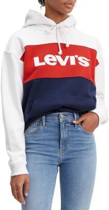 Levi's Colourblock Cotton Hoodie