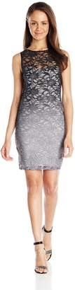Jump Junior's Ombre Glitter Lace Short Dress with Keyhole Back