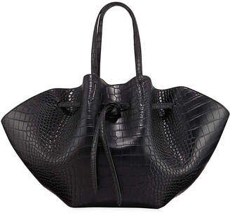 Nanushka Lynne Embossed Crocodile Tote Bag