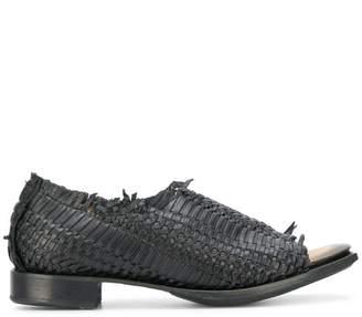 Yohji Yamamoto open toe woven loafers