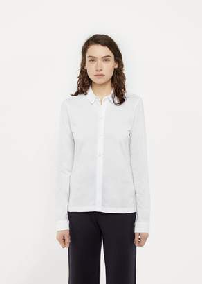 Sunspel Piqué Shirt White