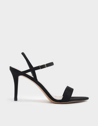 Charles & Keith Textured Classic Stiletto Heel Sandals