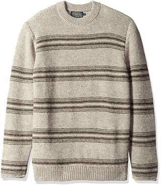 Pendleton Men's Alpaca Crew Long Sleeve Stripe Sweater